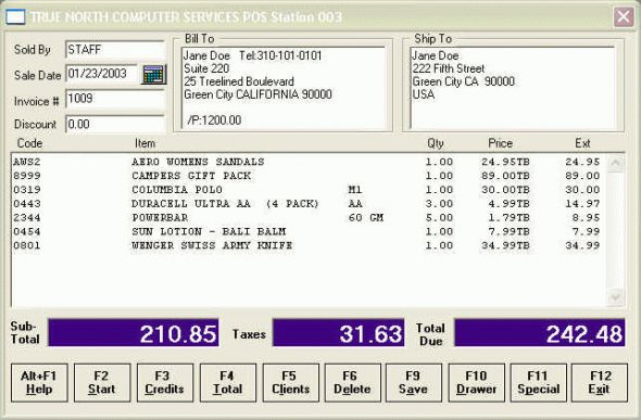 Retail Plus Point Of Sale Software Screenshot