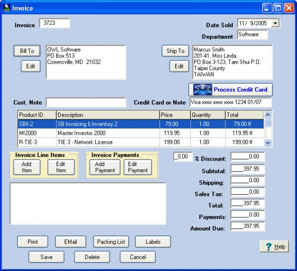 Simple Business Invoicing & Inventory Screenshot