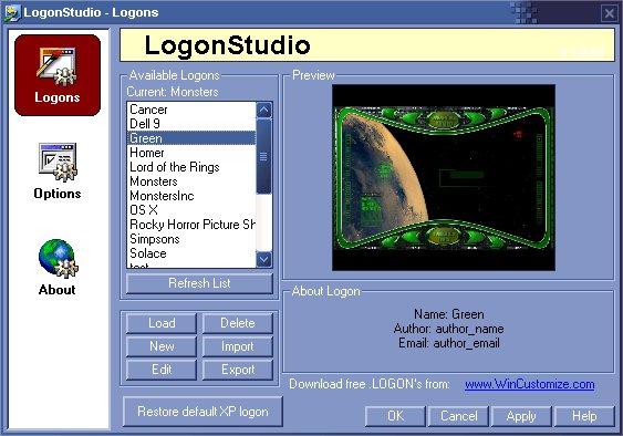 LogonStudio Screenshot
