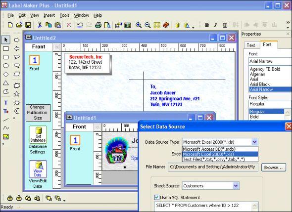 Indentsoft Label Maker Plus Screenshot