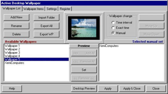 Active Desktop Wallpaper Screenshot