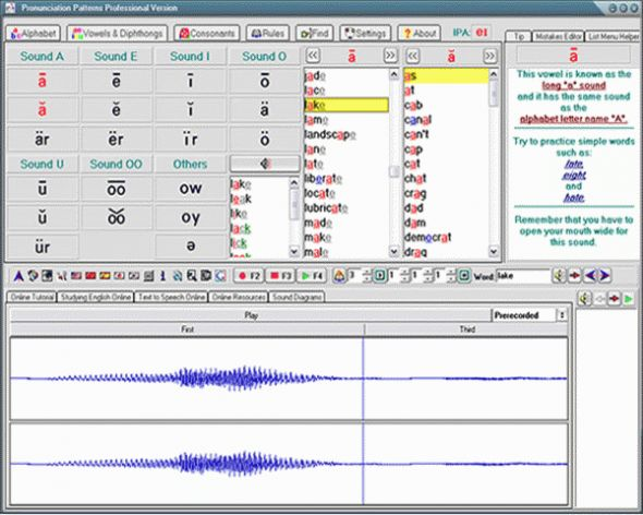 American English Pronunciation Patterns Screenshot