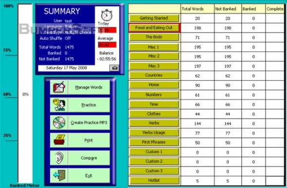 WordBanker Multilanguage Screenshot