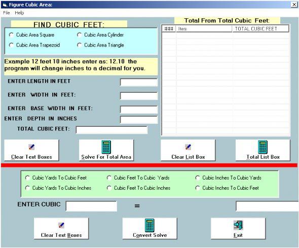 Building Formulas Screenshot