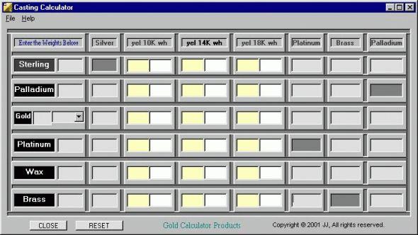 Casting Calculator Screenshot
