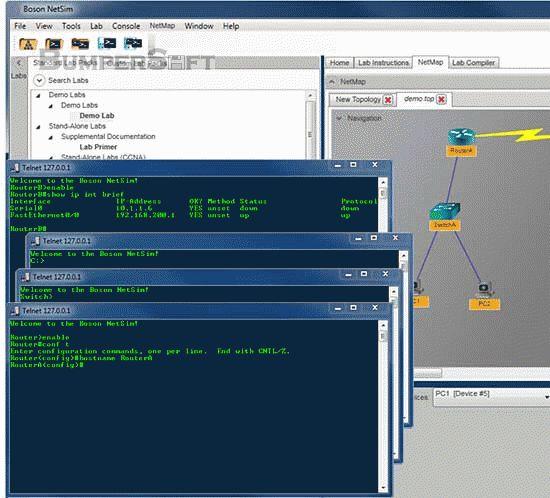 Boson Router Simulator Screenshot