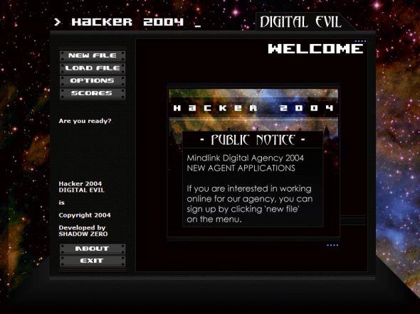 Hacker 2004: Digital Evil Screenshot