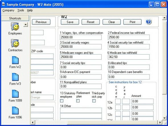 W2 Mate Screenshot