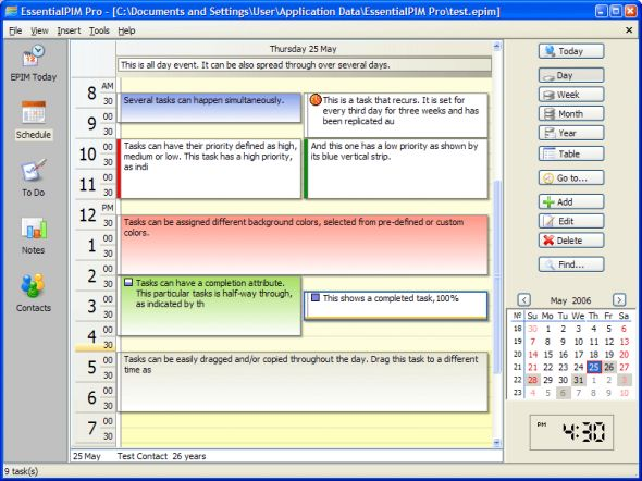 EssentialPIM Pro Portable Screenshot