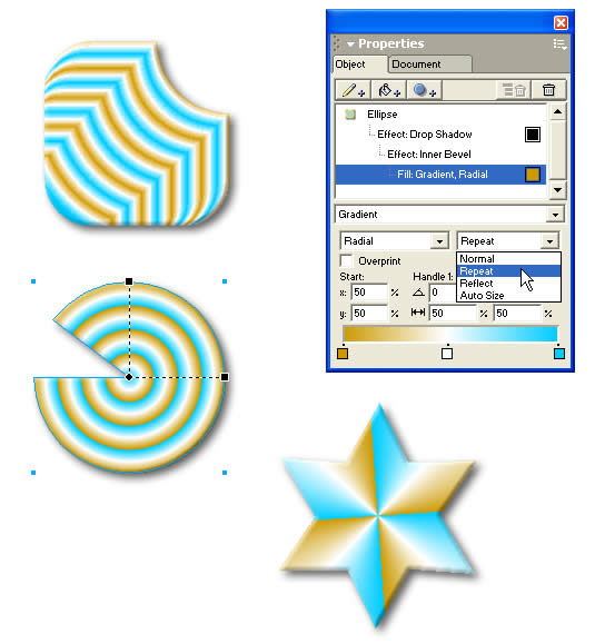 Macromedia FreeHand MX Screenshot