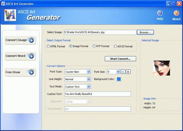 ASCII Art Generator Screenshot