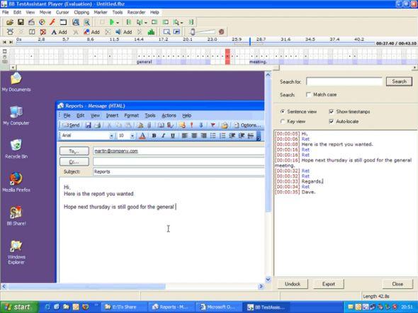 BB TestAssistant Screenshot