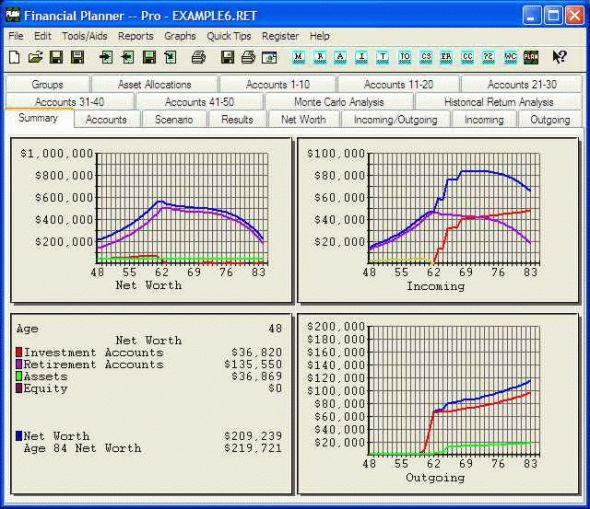 J and L Financial Planner Screenshot