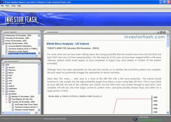 iFlash Market Alert Software Screenshot