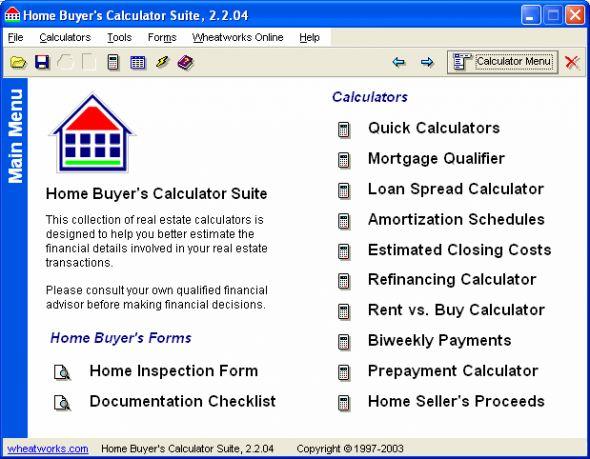Home Buyers Calculator Suite Screenshot