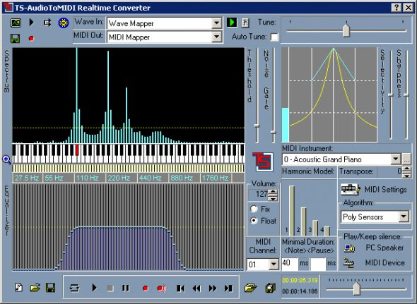 TS-AudioToMIDI Screenshot