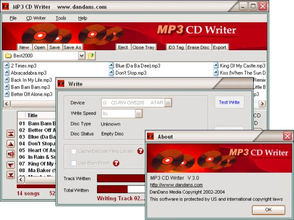 MP3 CD Writer Screenshot