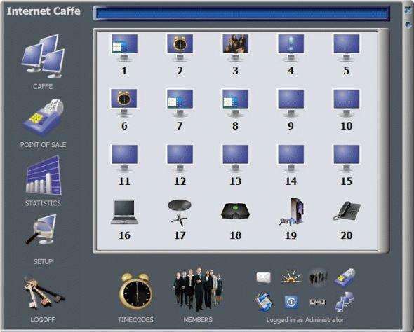 Cyber Internet Cafe Software - Internet Caffe Screenshot