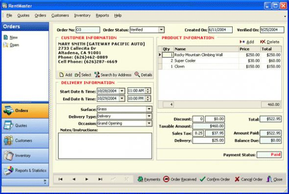 RentMaster Screenshot