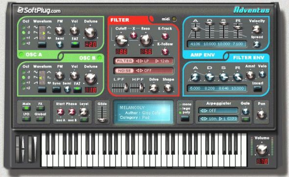 Adventus VST -VSTI Screenshot