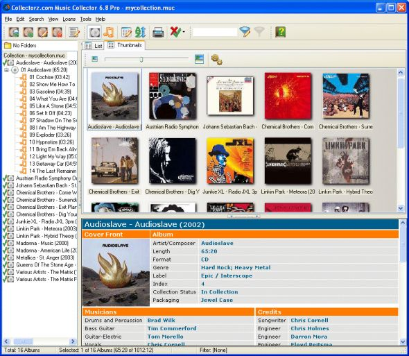Collectorz.com Music Collector Screenshot