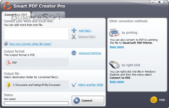 Smart PDF Creator Screenshot