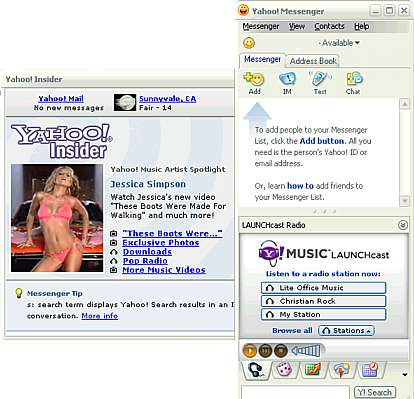 Yahoo! Messenger Screenshot