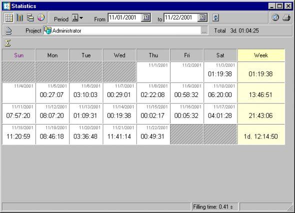 WorkTime Screenshot