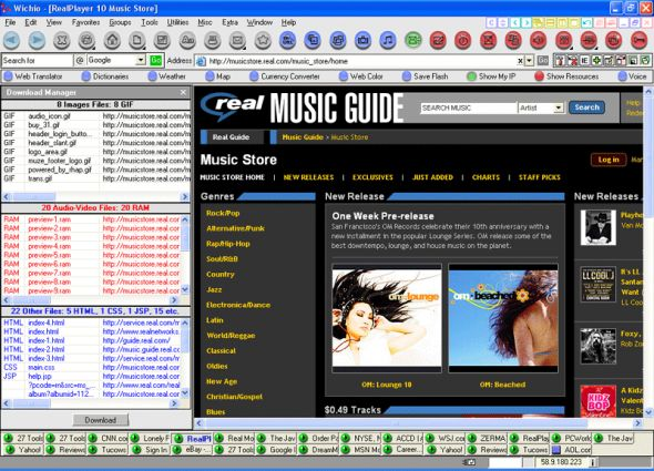 27 Tools-in-1 Wichio Browser Screenshot