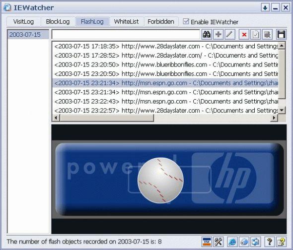 IEWatcher Screenshot