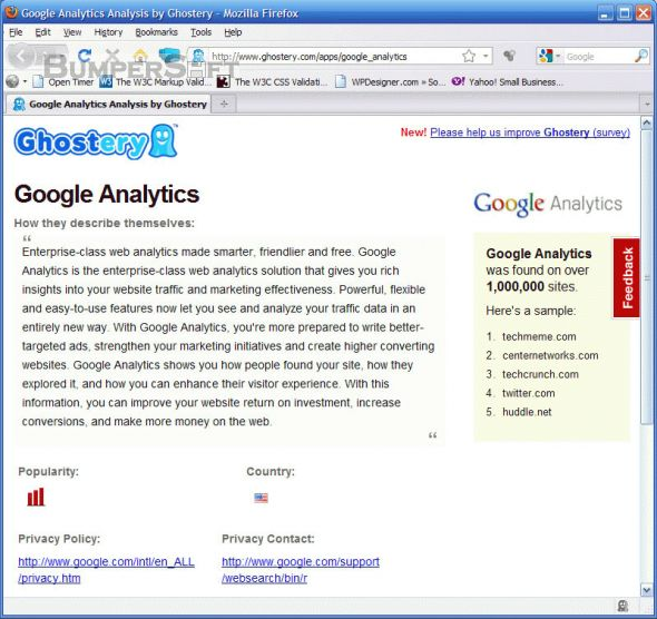 Ghostery for Google Chrome Screenshot