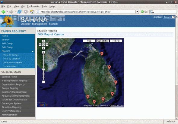 Sahana Disaster Management System Screenshot