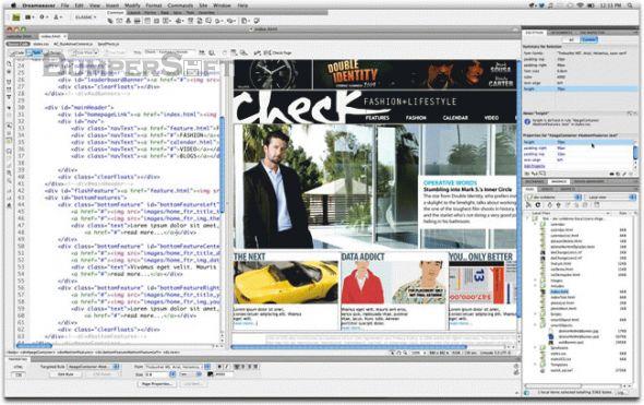 Adobe Dreamweaver (formerly Macromedia Dreamweaver) Screenshot