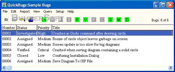 QuickBugs Screenshot
