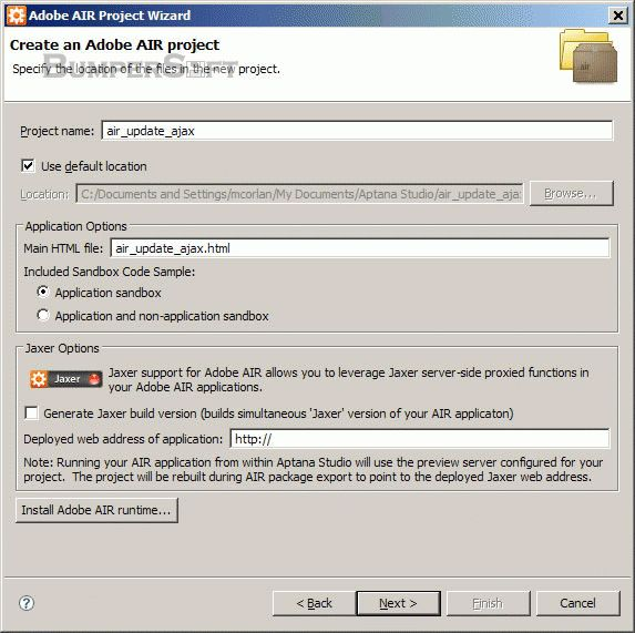 Adobe AIR SDK Screenshot