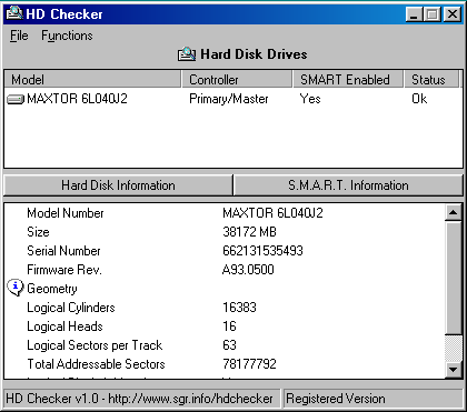 HD Checker Screenshot