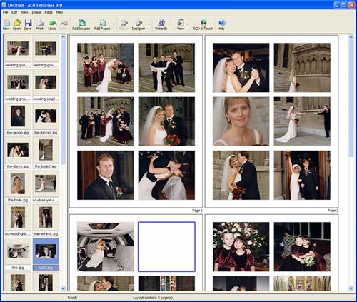 ACD FotoSlate Screenshot