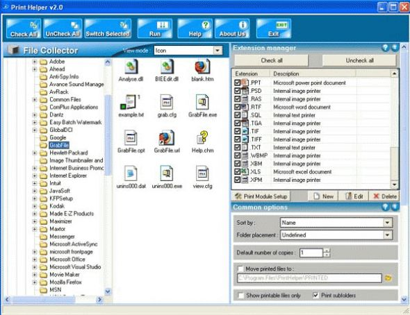 Print Helper: Batch and Automatic Printing Software Screenshot