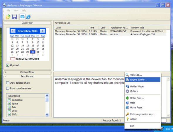 Ardamax Keylogger Lite Screenshot