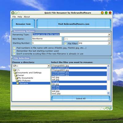 Quick File Renamer Screenshot