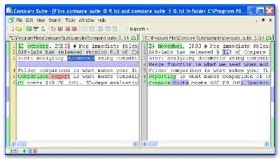 Compare Suite Screenshot