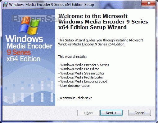 Windows Media Encoder 9 Series x64 Edition Screenshot