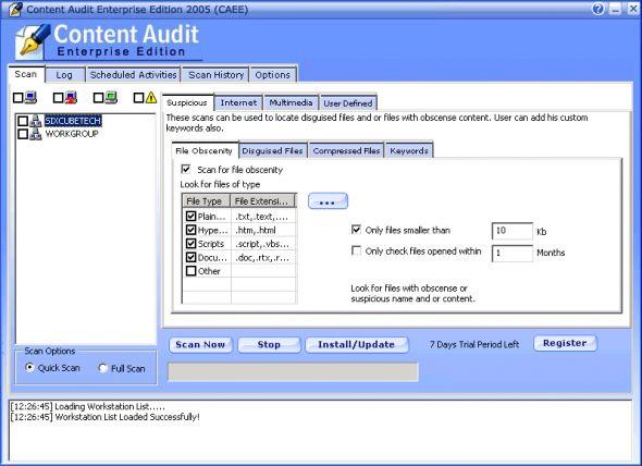 Max Secure Content Audit Screenshot