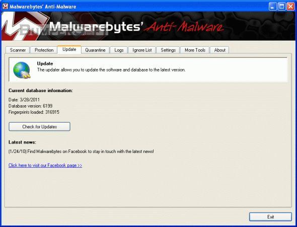 Malwarebytes Anti-Malware Free Screenshot