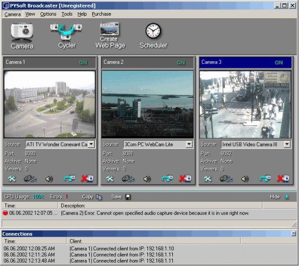 PYSoft Broadcaster Screenshot