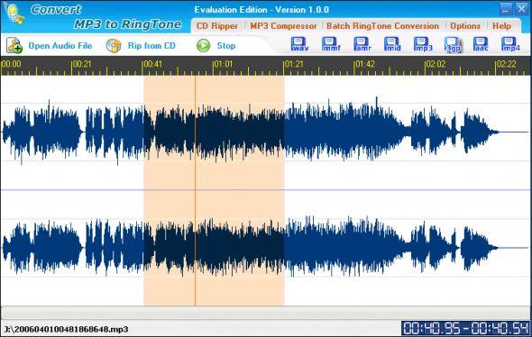 Convert MP3 to Ringtone Screenshot