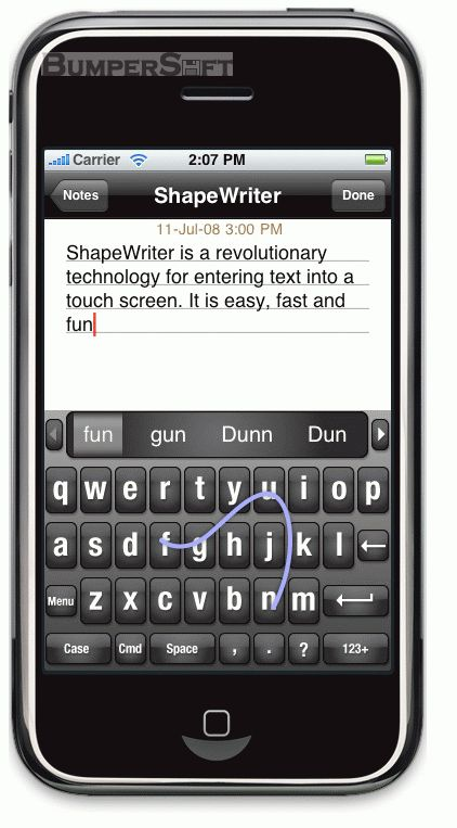 ShapeWriter Screenshot