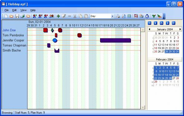 Employee Planner Screenshot