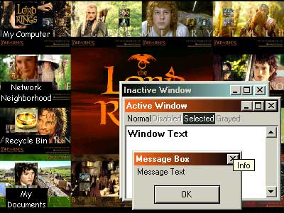 The Lord of the Rings Desktop Theme Screenshot