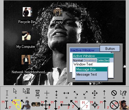 Michael Jackson Desktop Theme Screenshot